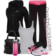 """I love this """"I work out outfit"""" even though I don't... ;) hehehe """"I work out.. :)"""" by candy420kisses on Polyvore"""
