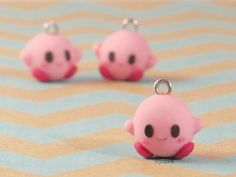 Kirby Polyer Clay Charm by Joibot on Etsy