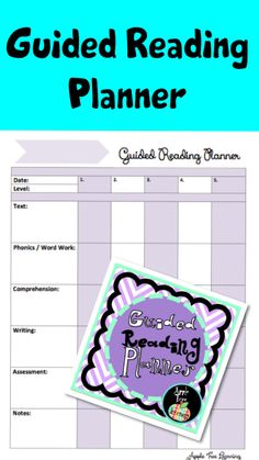 Guided Reading Planner and Organizer