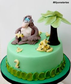 Jungle Book Cake Cakes Jungle Book Pinterest Book cakes
