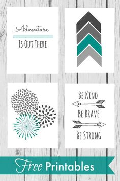 Free nursery printables - Nursery Wall Decor With Free Printables – Free nursery printables Nursery Wall Decor, Girl Nursery, Baby Decor, Nursery Room, Nursery Ideas, Project Nursery, Decor Room, Nursery Prints, Nursery Grey