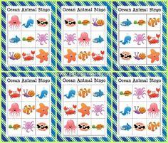 Ocean Animal Bingo {free ocean printables} - Gift of Curiosity Ocean Games, Ocean Activities, Animal Activities, Preschool Activities, Vocabulary Activities, Ocean Words, Sea Animal Crafts, Japanese Language, Spanish Language
