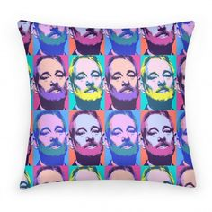 Pop Art Bill Murray Pillow For The Warhol In You