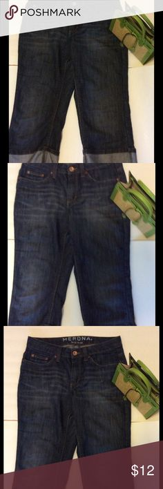 Meronda Jean Capri Size 10 Mid Rise Great Capri! Why pay full price? Size 10 Merona Jeans Ankle & Cropped