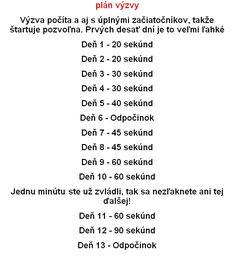 28 denná výzva do plaviek. Stačia len 4 minúty denne! Túto účinnú metódu vyskúšali státisíce ľudí po celom svete - chillin.sk Planer, Math, Words, Diets, Mathematics, Math Resources, Early Math, Horse