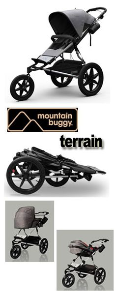 This looks like a trail runner Mum or Dad's type of buggy. Would you take Baby trail running?!  Mountain Buggy Terrain