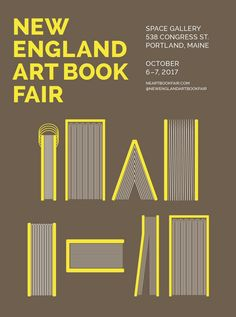 Art Book Fair Library Logo, Library Posters, Book Posters, Art Book Fair, Book Art, October Art, Little Free Libraries, Education Logo, Typographic Poster