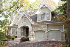Mineola Cottage - craftsman - exterior - toronto - by David Small Designs. Love the mix of stone and siding and the detail in the eaves.   Very nice. Beautiful soft color.