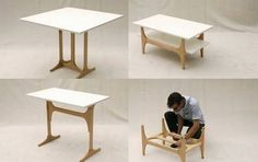 Folding Furniture Is Dining Table, Desk and Coffee Table in One : TreeHugger... http://3styletable.com/