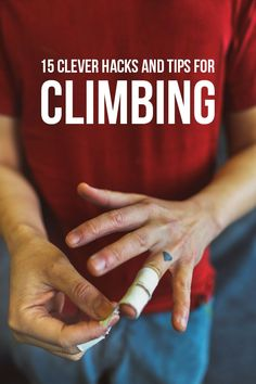 We've learned a lot in the past three years. Here are 15 Clever Rock Climbing Hacks, Tips, Tricks, and Proper Etiquette to help you get better at your bouldering. Rock Climbing Training, Rock Climbing Workout, Rock Climbing Shoes, Sport Climbing, Climbing Wall, Climbing Holds, Train Hard, Rock Climbing Techniques, Climbing Quotes