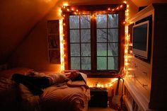 I always want Christmas lights to be up at my house