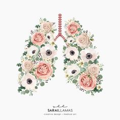 You made flowers grow in my lungs and although they are beautiful, I can't breathe. Tatoo Dog, Birthday Bulletin Boards, Medical Wallpaper, Medical Art, Anatomy Art, Science Art, Flower Making, Lunges, Cute Drawings