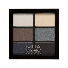 MUA Professional 6 Shade Palette - Smokey Shadows