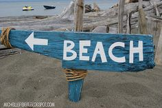 An Old 'Washed Up' Beach Sign