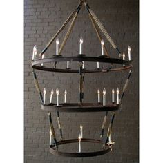 The Inverted Cordiff Chandelier is a fine lighting fixture that does more than light a room — it illuminates. In the exceptional design and detailing, a fixture provides not just light, but charm and sophistication as well.  Solária offers a diverse line of specialty lighting products, all beautifully designed and carefully crafted in a distinctive, weathered European style.    Finish: Antique Black  Material: Rope  Chain: 3 Feet