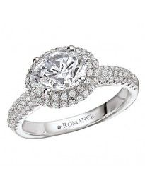 Halo Semi-Mount Diamond Engagement Ring from Love by Romance.