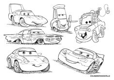 pixar+cars+coloring+sheets | Cars coloring pages