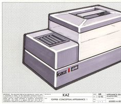 Technical Drawing of Kaz Humidifier Exterior :: Universal Design