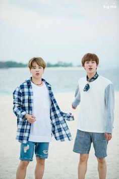 These two are just too cute! #JinMin