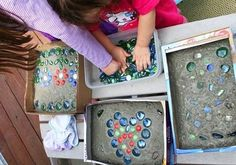 Let your kids customize stepping stones for the garden.