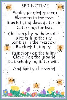 spring theme poems - Spring Pictures For Children