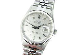 Mens Rolex Datejust SS Silver Dial & 18k White Gold Watch - http://menswomenswatches.com/mens-rolex-datejust-ss-silver-dial-18k-white-gold-watch/ COMMENT.