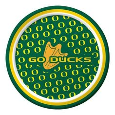 "Creative Converting Oregon Ducks Dessert Paper Plates (8 Count) by Creative Converting. $5.99. Collegiate NCAA team logo dessert paper plates. Measures 7"" diameter. See Creative Converting's coordinating line of party favors and dinnerware - inflatable fingers, wrist bands, head bands, pom poms, cheer sticks, cups, plates, napkins, chip trays and décor. The perfect supplies for your tailgating, Bowl game or sports themed party - show your team spirit and pride. 8 count..."