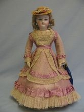 """13-1/2"""" Incredibly Beautiful Early French Fashion Doll UFDC Blue Ribbon Win"""