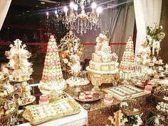 princess royal baby shower dessert table