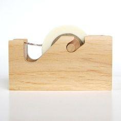 wooden washi tape deispenser