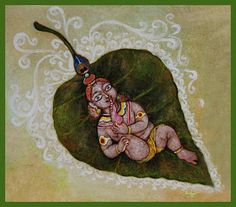 by Keshav. Oil on canvas. Krishna Lila, Krishna Art, Hare Krishna, Lord Krishna Hd Wallpaper, Shiva Hindu, Krishna Painting, Indian Paintings, Gods And Goddesses, Indian Art