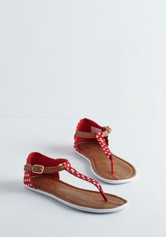 As Far as I Can Sea Sandal in Ruby