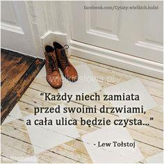 Każdy niech zamiata przed swoimi drzwiami... #Tołstoj-Lew,  #Alkohol-i-nałogi, #Różne