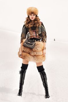 For all those fashionable journeys thru the frozen tundra....LOVE IT! Eniko Mihalik