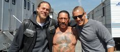 From Sons of Anarchy  Danny Trejo,Charlie Hunnam and Theo Rossi