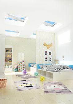 Tymczasem na dziecięcym poddaszu - nasze okna PGC A1 :) Loft, Bed, Furniture, Home Decor, Decoration Home, Stream Bed, Room Decor, Lofts, Home Furnishings
