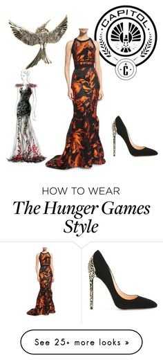 """""""Girl on Fire"""" by lizziercarter-1 on Polyvore featuring Hot Topic, J. Mendel and Cerasella Milano"""