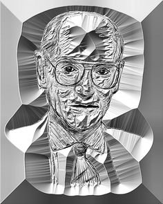Portrait in engraved steel - by Tony Karp – http://timuseum.com