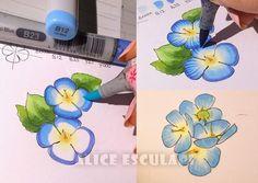 tutorial flowers with copic , copic italia blog