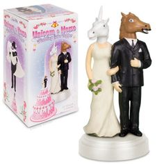"""Unicorn and Horse Wedding Cake Topper - Perfect for the wedding of """"that"""" couple..."""