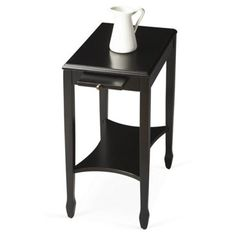Check out this item at One Kings Lane! Isabeau Accent Table, Black 170 mdf