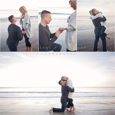 On bended knee Surprise Engagement, Surprise Wedding, Beach Engagement, Engagement Pictures, Engagement Shoots, Announcing Engagement, Engagement Rings, Proposal Photography, Couple Photography