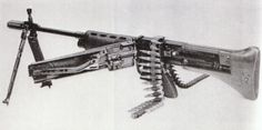 """Fallschirmjägergewehr 42 The FG 42 was a select-fire air-cooled weapon and one of the first to incorporate the """"straight-line"""" recoil configuration. This layout, combined with the side magazine, placed both the center of gravity and the position of... Pin by Paolo Marzioli"""