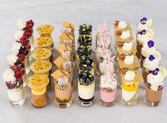 by Pastry Chef Antonio Bachour the pink cup, idea for cookies Mini Dessert Cups, Dessert Bars, Dessert Table, Dessert Recipes, Desserts In A Glass, Fancy Desserts, Wedding Desserts, Baking Desserts, Patisserie Fine