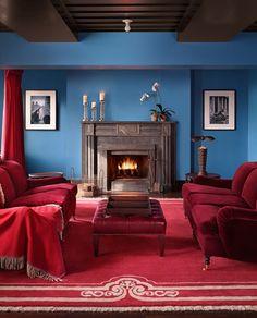 Perfect blue paint