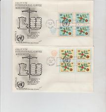 First day of issues (2), UN International Coffee Agreement, 1966, Scott#158-9