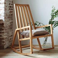 Rocking chair en bois, oui mais design !