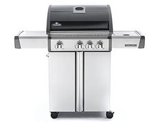Napoleon Triumph T410sb Freestanding Propane Gas Grill With Side Burner | Gas Barbeque Reviews