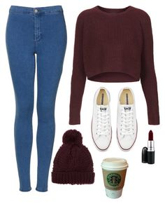 """Winter Days"" by regan-cooke ❤ liked on Polyvore featuring Topshop, Converse, MANGO, women's clothing, women, female, woman, misses and juniors"
