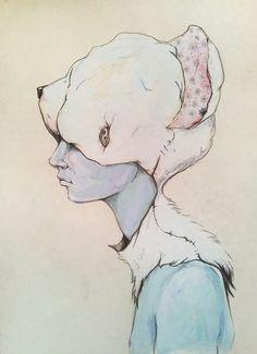 Portrait E Art Print  http://society6.com/artist/ZinaNedelcheva